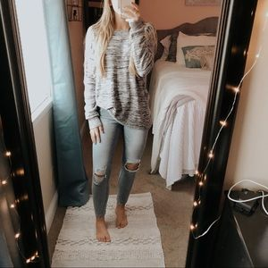 Loft Space Dyed Knit Pullover Sweater
